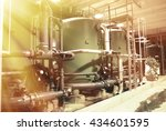 water treatment tanks at power... | Shutterstock . vector #434601595
