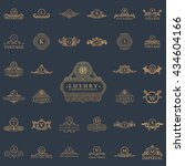 luxury vintage logo set.... | Shutterstock . vector #434604166