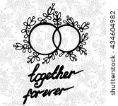 lettering together forever with ... | Shutterstock .eps vector #434604982