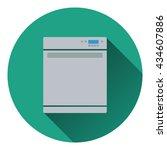 kitchen dishwasher machine icon....