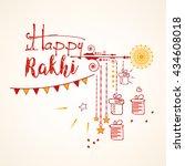 creative line art doodle based... | Shutterstock .eps vector #434608018