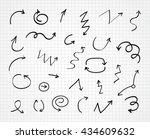 hand drawn arrows.vector arrows ... | Shutterstock .eps vector #434609632