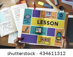lesson class education study... | Shutterstock . vector #434611312