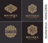 luxury logo set  a collection... | Shutterstock .eps vector #434612806