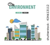 city environment background for ... | Shutterstock .eps vector #434613112