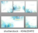 set of abstract textures. grass ... | Shutterstock . vector #434620492