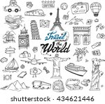 hand drawn collection of the... | Shutterstock .eps vector #434621446