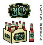 an illustration for craft beer... | Shutterstock . vector #434622976