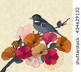 vintage vector illustration of... | Shutterstock .eps vector #434629132