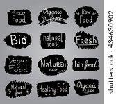 vector labels with vegetarian... | Shutterstock .eps vector #434630902