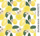 watercolor seamless pattern... | Shutterstock . vector #434633272