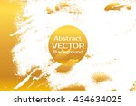 golden abstract painted marble... | Shutterstock .eps vector #434634025