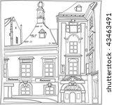 old town | Shutterstock .eps vector #43463491