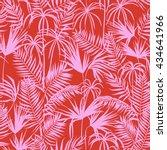 vector seamless graphical... | Shutterstock .eps vector #434641966