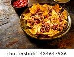 plate full of yellow corn... | Shutterstock . vector #434647936