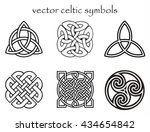 vector celtic symbol set | Shutterstock .eps vector #434654842
