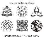 vector celtic symbol set