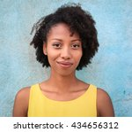 portrait of a beautiful black... | Shutterstock . vector #434656312