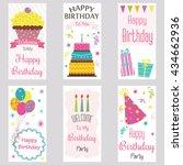 happy birthday invitation card... | Shutterstock .eps vector #434662936