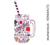 hand drawn illustration of... | Shutterstock .eps vector #434664172