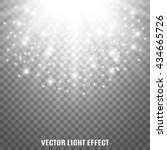 sun rays  sparkles  flash on... | Shutterstock .eps vector #434665726