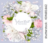 romantic flower invitation or... | Shutterstock .eps vector #434681662