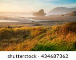 Sunrise By The Sea Stacks Of...