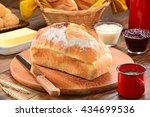 homemade bread   Shutterstock . vector #434699536
