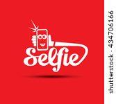 taking selfie photo on smart...   Shutterstock .eps vector #434706166