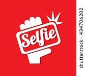 taking selfie photo on smart...   Shutterstock .eps vector #434706202