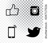 black icon set vector... | Shutterstock .eps vector #434717026