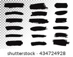 big set of black ink brush... | Shutterstock .eps vector #434724928