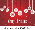 abstract red snowflake  twinkle ... | Shutterstock .eps vector #43472662