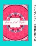 mandala vintage template card...   Shutterstock .eps vector #434727448