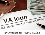 paper with words va loan. | Shutterstock . vector #434746165
