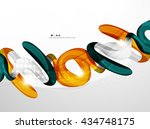 shiny wave modern motion... | Shutterstock .eps vector #434748175