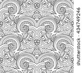 seamless monochrome pattern for ... | Shutterstock . vector #434749246