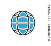 internet globe simple flat icon ...