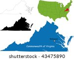 commonwealth of virginia  usa | Shutterstock .eps vector #43475890
