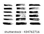vector set of grunge brush... | Shutterstock .eps vector #434762716