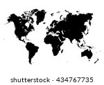 big world map. isolated on... | Shutterstock .eps vector #434767735