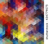 colorful triangle abstract... | Shutterstock . vector #434779075