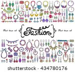 vector set with hand drawn... | Shutterstock .eps vector #434780176