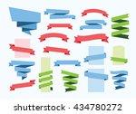 ribbon banner set vector...   Shutterstock .eps vector #434780272