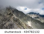 tatra mountains  and climbers. | Shutterstock . vector #434782132