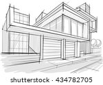 architectural drawings. sketches | Shutterstock .eps vector #434782705