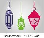 lanterns | Shutterstock .eps vector #434786605
