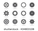 set of grey gears. vector... | Shutterstock .eps vector #434803108