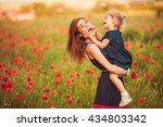 mother with daughter outdoor | Shutterstock . vector #434803342