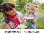 family playing in the park.... | Shutterstock . vector #434806636